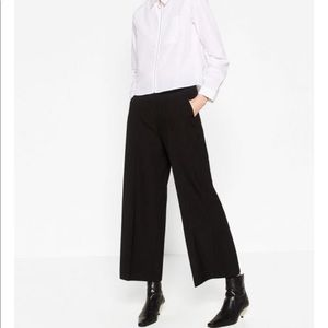 Zara Black High Waist Culottes Medium